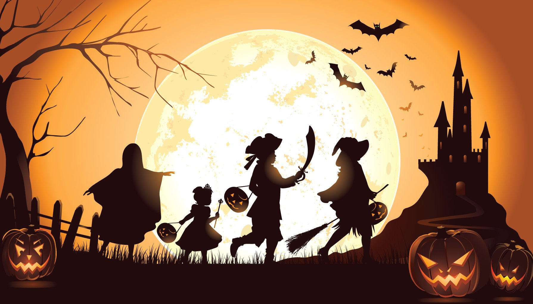 Halloween Trick Or Treat Silhouette.Halloween Trick Or Treat Event Coming Up Tais Naples